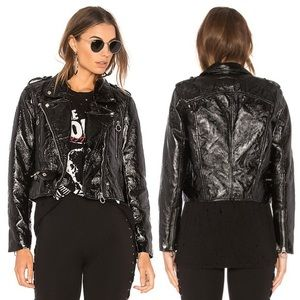 Blank NYC steel panther vegan leather jacket